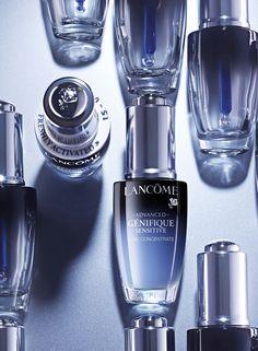 Ad Photography, Product Photography, Makeup Ads, Bottle Design, Lancome, Packaging Design, Serum, Digital Marketing, Perfume Bottles