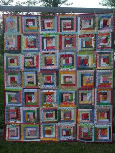 Quilt as you go Log Cabin