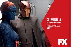 Os X-Men ainda têm que lidar com Magneto, Mística, Fanático e outros mutantes da Irmandade.  X-Men 3, O Confronto Final - Sábado 22 às 22h   #FXCine Confira conteúdo exclusivo no www.foxplay.com