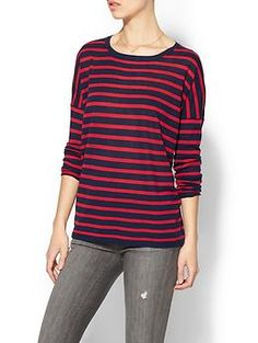 SUNDRY CLOTHING, INC. Striped Cashmere Crewneck Top | Piperlime