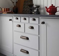timeless classic kitchen cupboard door handles in rubbed bronze look amazing in any kitchen www - Kitchen Door Knobs