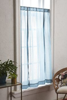 Plum & Bow Chloe Gauze Draped Window Shade - Urban Outfitters