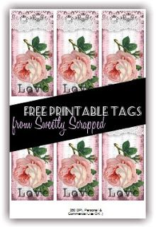 Free Printable Rose Tags from Sweetly Scrapped