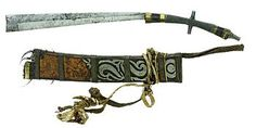 Pandat (other names also include Kamping, Parang Pandat, Parang Pandit or Mandau Tangkitn) is the war sword of the Dayak people of northwest Borneo (Sarawak, Malaysia and West Kalimantan, Indonesia) and is never used as a tool.