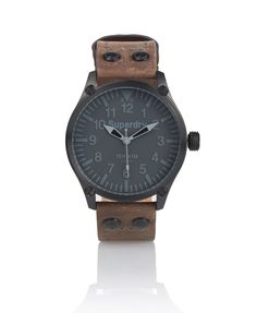 Mens - Aviation Equipment Watch in Brown | Superdry