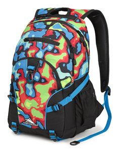 Amazon.com: High Sierra Loop Backpack, Aloha/Black/Deep Purple: Sports & Outdoors