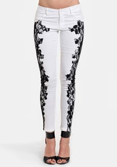 Night Out Lace Detail Cropped Pants