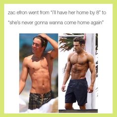 Zac Efron, I've always thought he was sexy since high school musical <3