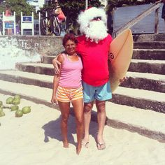 Praiana com Papai Noel - Cartiê Bressão