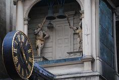 One of London's oldest clocks, at St Dunstan's in the West, Fleet Street, London