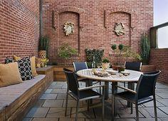 Kleine Urbane Garten Designs Holz Bodenbelag überdachung | Garten ... Grundprinzipien Des Gartendesigns