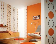 orange wall color for craft rooms | ... , this orange wall decor will spice up even the most simple of rooms