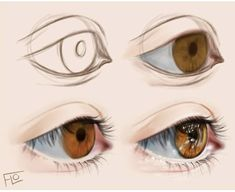 Tutorial: how to draw an eye in photoshop? Eye Drawing Tutorials, Digital Painting Tutorials, Digital Art Tutorial, Art Tutorials, Drawing Tips, Digital Paintings, Digital Art Fantasy, Digital Art Anime, Digital Art Girl