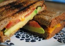 Tomato and Avocado Grilled Cheese--Forget the Fattening Sodium Packed Lunch Piled High.Replace With Good Fat Filed Avacado No Calorie Tomato.Light Cheese and Mustard.Whole Grain Sliced Thin Ezekiel toast---EAT!And Healthy, Too! I Love Food, Good Food, Yummy Food, Tasty, Awesome Food, Healthy Snacks, Healthy Eating, Healthy Recipes, Healthy Breakfasts