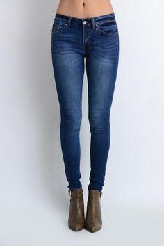 643517047939a Kan Kan Jeans, Denim Skinny Jeans, Skinny Pants, Dark Denim, Blue Denim