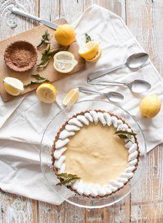 Tarte citron-verveine & thé noir
