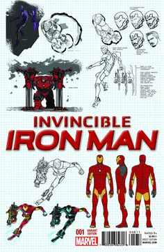 Things will be a lot different after the reality-bending events of Marvel Comics' Secret Wars crossover wrap up. Tony Stark's still going to be Iron Man, though, and he'll be wearing an all-new suit of super-armor. Comic Book Characters, Comic Character, Comic Books Art, Character Design, Comic Art, Marvel Comics Art, Marvel Heroes, Les Innocents, Iron Men 1