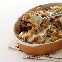 Gluten-Free Cheesy Mushroom Baked Ziti