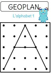 Free Géoplans to practice the alphabet Alphabet Activities Kindergarten, Letter Activities, Preschool Math, Activities For Kids, Kids Reading, Reading Skills, Geo Board, French Alphabet, French Worksheets
