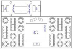 diagram of setting table for wedding reception - Google Search ...