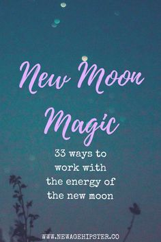New moon energy is powerful shiz!  I like working with the Full Moon for releasing, exploring my stuff, doing  some deep work and big magic. On the New Moon though, I'm more about taking  stock, setting goals and putting it out there.  Everyone works with moon energy differently, so it's reall