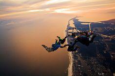 Sky diving  #bucketlist