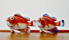 Vintage Fish Shakers Salt and Pepper Shakers  by ClassicMemories