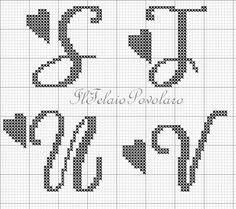 Alfabeto free 28 punti - lettere S T U V
