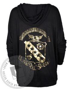 Sigma Kappa Gold Crest Flowy Hoody by Adam Block Design