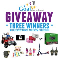 Ends 9/20 Win GoalUP Points to Help Your Kids Set Giveaway Achieve Goals! THREE Winners!