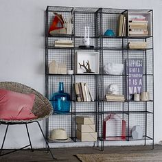 draht regal von house office interior pinterest haus. Black Bedroom Furniture Sets. Home Design Ideas