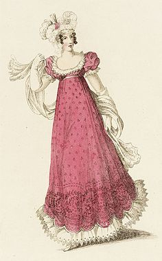 Fashion Plate (Ball Dress)  John Bell, February 1, 1819, LACMA Collections Online
