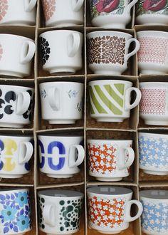 Arabia Finland old coffee cups...