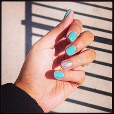 Tiffany blue nails :) JillyNYC