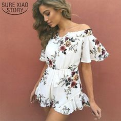 Cheap chiffon overalls, Buy Quality playsuit boho directly from China jumpsuits rompers women Suppliers: 2017 Off shoulder print jumpsuit romper women Sexy high waist summer beach playsuit Boho tassel chiffon overalls Short Playsuit, Beach Playsuit, Short Jumpsuit, Jumpsuit Shorts, Bodysuit Shorts, Ladies Jumpsuit, Red Jumpsuit, Rompers Women, Jumpsuits For Women