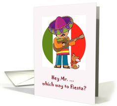 Cinco de Mayo Card With Chihouhou and Singer card
