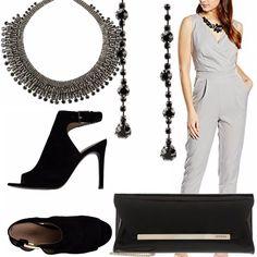Il nero per eccellenza è il colore dell'eleganza e della raffinatezza abbinato al grigio tende a rendere il tutto più prezioso e fine arricchito da preziosi e brillanti bijoux .