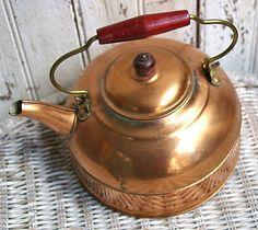 60s Revere Ware Copper Tea Kettle Revere Copper by KickassStyle $30.00