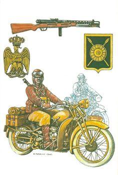 Regio Esercito - AGENTE MOTOCICLISTA DI BANDA P.A.I- AFRICA ORIENTALE ITALINA 1940-41- Il Corpo di Polizia Coloniale fu costituito il 14 dicembre 1936 e assunse la denominazione di Corpo di Polizia dell'Africa Italiana (P.A.I.) il 15 maggio 1939.