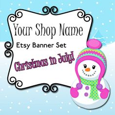 Christmas in July Etsy Banner Set  CIJ Etsy Shop by MLDesignWorks, $5.00