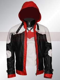 Batman Arkham Knight Jason Todd Red Hood Leather Cosplay Costume.