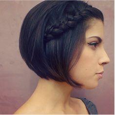 Simple braid for short hair