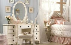 bedroom, classic, cute, cute vintage room , decoracao
