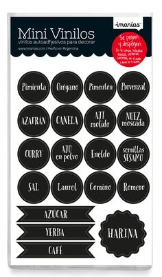 etiquetas de condimentos para imprimir - Buscar con Google