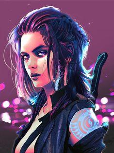 Cyberpunk Portraits – About Anime Cyberpunk Girl, Arte Cyberpunk, Cyberpunk 2077, Cyberpunk Fashion, Cyberpunk Tattoo, Female Character Design, Character Design Inspiration, Character Art, Character Concept