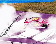 AUTOGRAPHED 2011 Jeff Gordon #24 DTEH 85th Win (Atlanta) BURNOUT 8x10 Photo by Trackside Autographs. $54.95. For your viewing pleasure: *AUTOGRAPHED* 2011 Jeff Gordon #24 DTEH (Atlanta Win) BURNOUT 8x10 Photo. This glossy NASCAR picture was hand-signed by Jeff through a well-respected member of Global Authentication. You will receive a Certificate of Authenticity (COA) with your purchase, and we also offer a 100% life-time guarantee regarding authenticity! This is an...