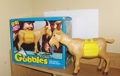 gobbles the goat - eats Plastic trash