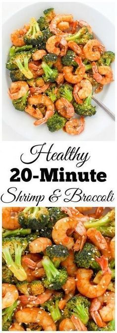 20-Minute Skinny Sriracha Shrimp and Broccoli - this delicious restaurant quality meal is ready SO fast!