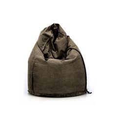 Puf SACK - WASHEDout 2018. Mocna, bawełniana tkanina przypominająca sprane płótno żeglarskie. Taki puffotel idealnie pasuje do wnętrz industrialnych, scandi czy loftów. #Jabbadesign #beanbag #comfy #slowliving #polishdesign #realx #puf #puffotele #wygodnyfotel #pufadesign #brązowy #Sack Bean Bag Chair, Grunge, Collection, Design, Beanbag Chair, Grunge Style, Bean Bag