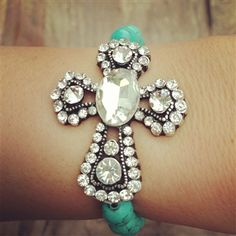 Cross Bracelet from Southern Fried Chics